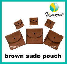 Rectangle Shape Various Color Elegant Looking Fancy Jewelry Pouch Suede Jewelry Pouch