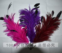 Hot Selling Special Design Artificial Feather Hair Flower with Clip Brooch For Hat Decoration