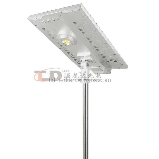 Security and long life Integrated solar street lamp with Customized 60w