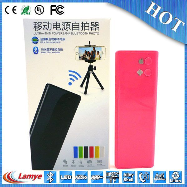 Christmas Gift 15000 mah power bank remote control self-timer