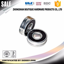 custom groove bearing nylon coated 2rs bearing 304 stainless steel for shower door bearing sliding gate wheel BDC-BT014 RoHS
