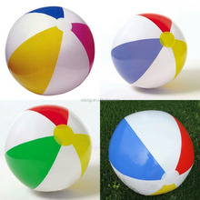 High quality plastic material and PVC four-color beach ball for wholesale