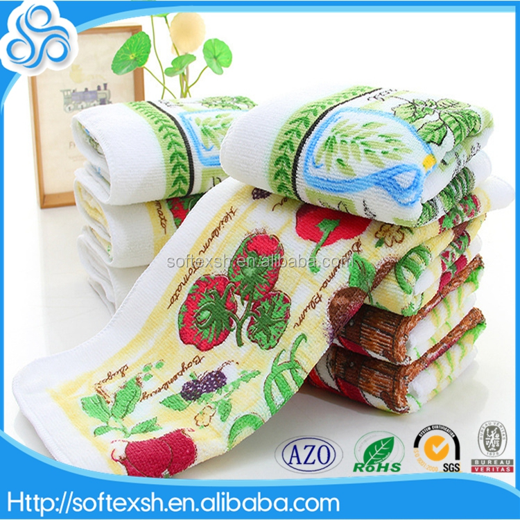 manufacturer blank polyester printed tea towels microfibre