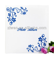 Chinese characteristics elegant embroidery ''Blue and White porcelain'' slip in photo album leather