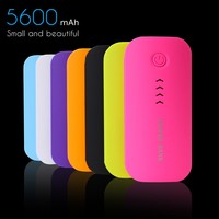 New design portable charger 5600mah power bank battery charger portable usb powerbank for iphone latop