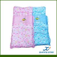 100% cotton rectangular cart sleeping bag for baby