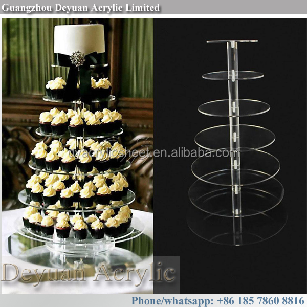 Acrylic wedding cupcake tower stands cake tier stand