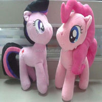 2014 high quality christmas gift pink pony horse plush toys