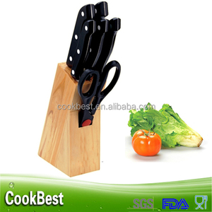 Multifunctional 7pcs kitchen knives set knife set with wooden stand wood block