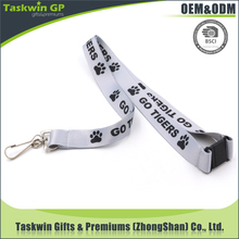 Customized any design polyester white lanyard