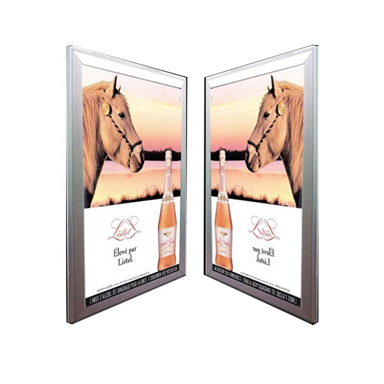 Aluminum frame Single side Light Box with clip type Ultra thin advertising <strong>LED</strong> <strong>panel</strong> displayer with small MOQ wholesale price
