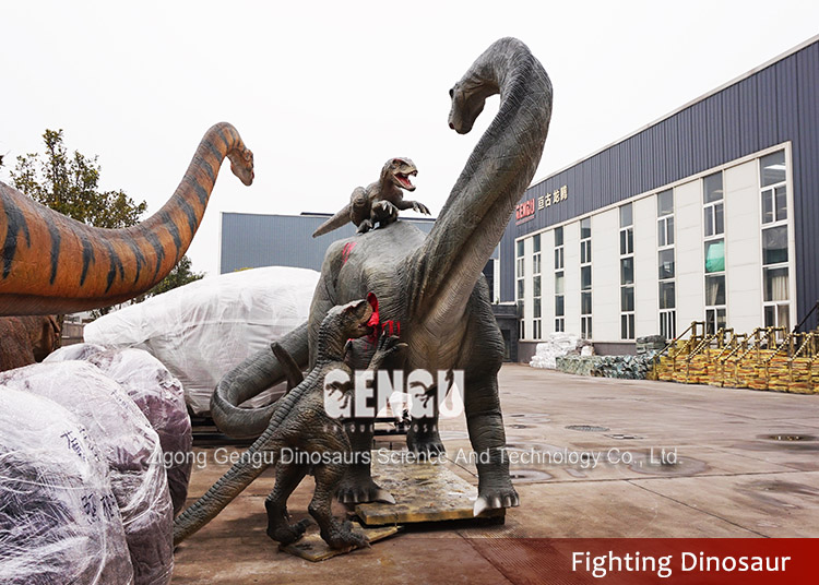 Lifesize Simulation Silicon Rubber Mechanical Dinosaur For Sale