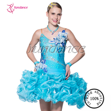 Plus size puffy kids ballroom sexy dance dresses for girls 2015 L-14118