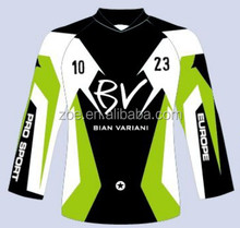 2018Customized 100% Polyester Dry Fit Men's Team Racing Motorcycle Apparels/wholesale cheap price Motorcycle jersey