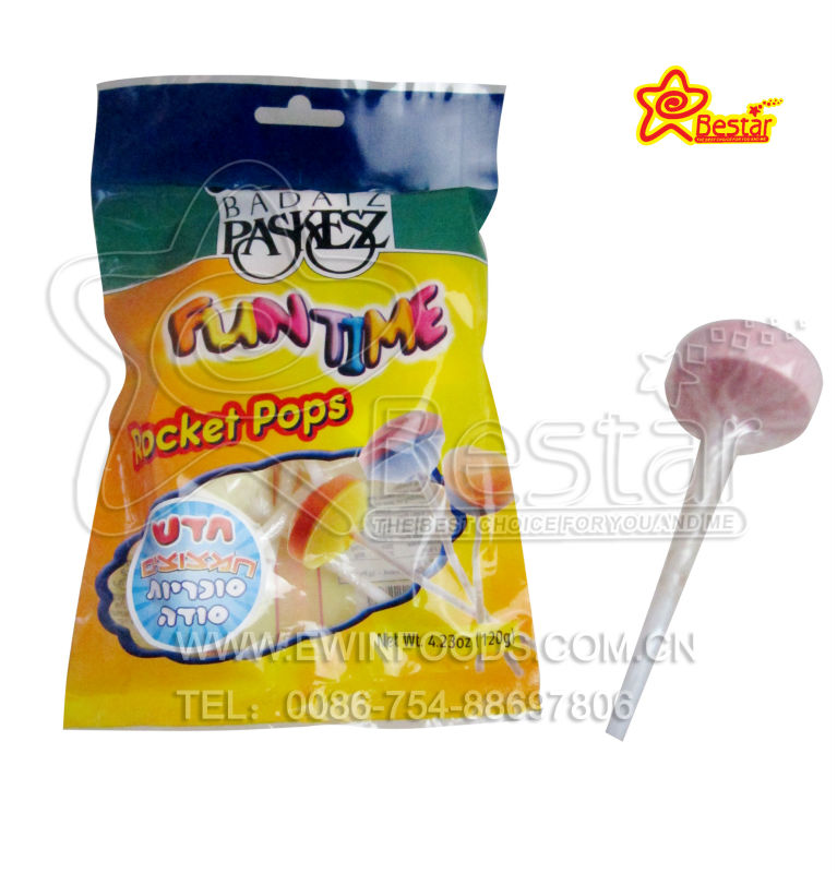 Fun Time Rocket Pop Lollipop Candy