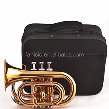 Standard Golden Lacquered Bb Key Pocket Trumpet for Sale