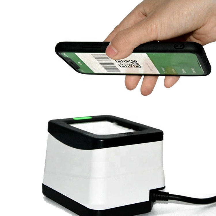 Mobile Payment Box 2D Barcode Reader Rs232 / Usb Qr Code <strong>Scanner</strong> For Ali / Wechat Pay HS-2001B
