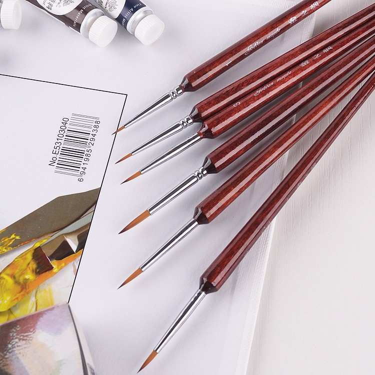 Fine Detail Paint Brush Set6 Pieces Round Tip Art Brushes For Fine