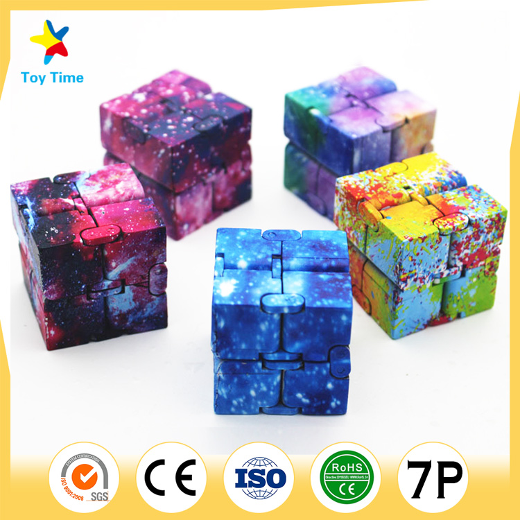 4*4*4cm customize printing Infinite folding Magic Cube for kids