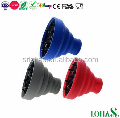 Hot Silicone Travel Accessory Folded Hair diffuser Curl