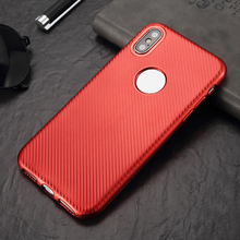 Free Sample Electroplating Style Carbon Fiber Soft TPU Mobile Case Phone Cover For iPhone X