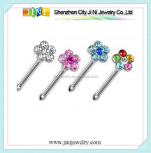 16g flower nose ring piercing
