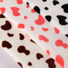 100% polyester Cow Printed Flannel Fleece Fabric for baby Pajamas/Blankets