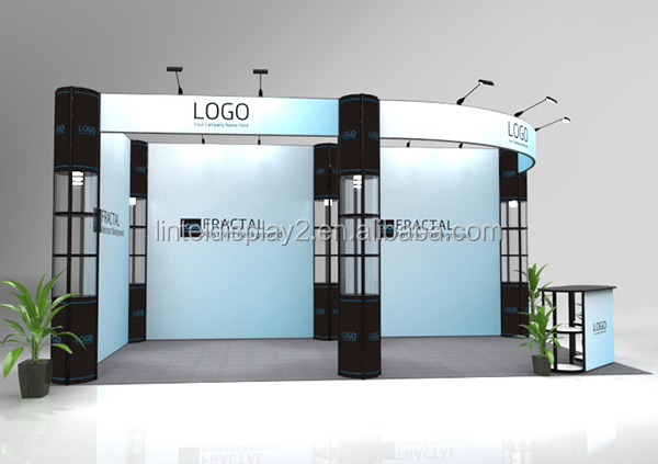 Standard Exhibition Booth : Trade show standard portable aluminum exhibition booth