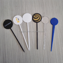 customized disposable plastic swizzle stick for drinks