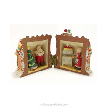 customized candy Christmas house santa claus figure