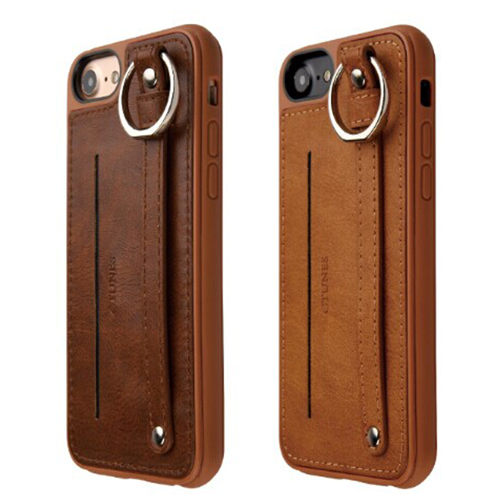 C&T Luxury Shockproof TPU +Leather Credit Card Holder Stand Wallet Back Case Cover for Iphone 7