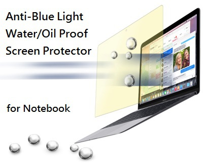 Customize Anti-Blue Light Water Oil Proof PET Tablet Notebook Screen Protector Film for Apple Retina/Samsung Note GALAXY Tab