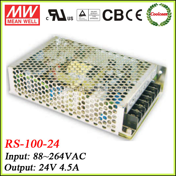 Meanwell RS-100-24 100W 24V Switching Power Supply