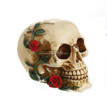 Roses Skull Handicrafts, Resin Skulls, Individual Ornaments