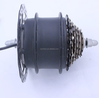 Shengyi 180w brushless geared electric bike hub motor with disc brake mechanism(DGW10-MD)