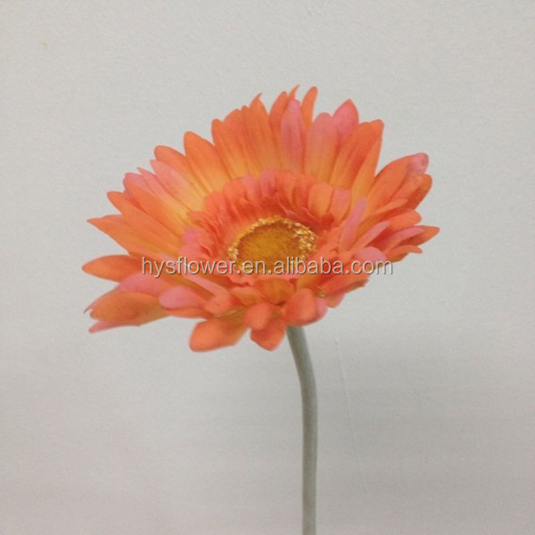 high quality real touch fabric flower single gerbera daisy artificial flowers