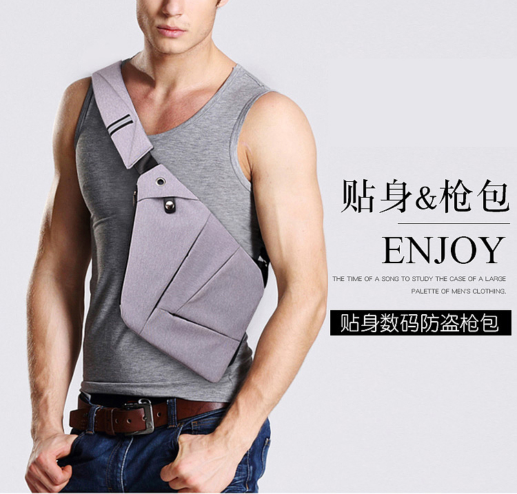 30% off  Anti-Theft Chest Bag  Hidden Shoulder Messenger Bag Casual Retro Crossbody  Cool  Motorcycle Sling bag