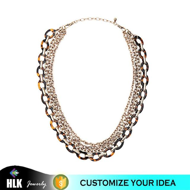 14 Karat Gold Jewelry Best Selling Products Multi Layers Leopard Metal Chain Necklace