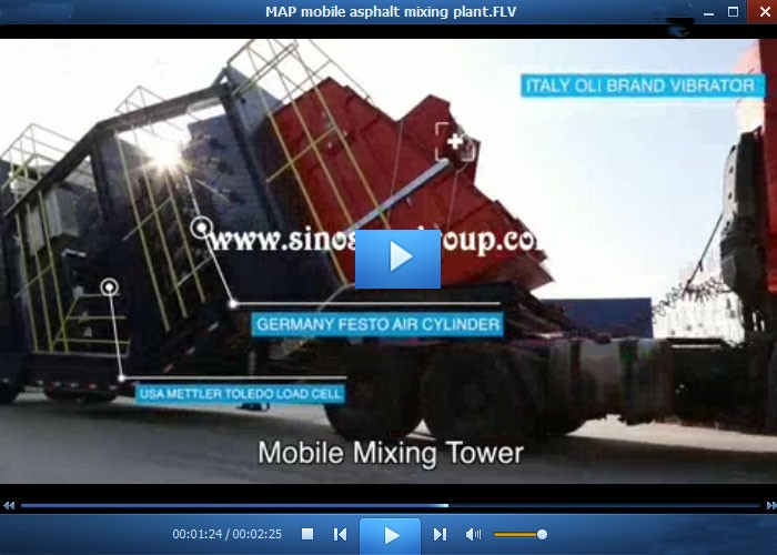 80t/h modern design hot mix mobile asphalt plant