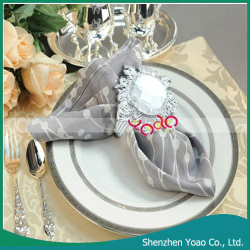 Wedding Decoration Acrylic Diamond Ring Napkin Holder Wholesale