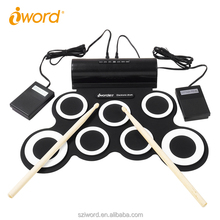 iWord G3001 Flexible Silicon Rubber Digital Electronic Roll Up Drum Kit