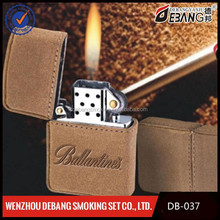 electronic lighter,Fashion hot sale Flint lighter covered leather