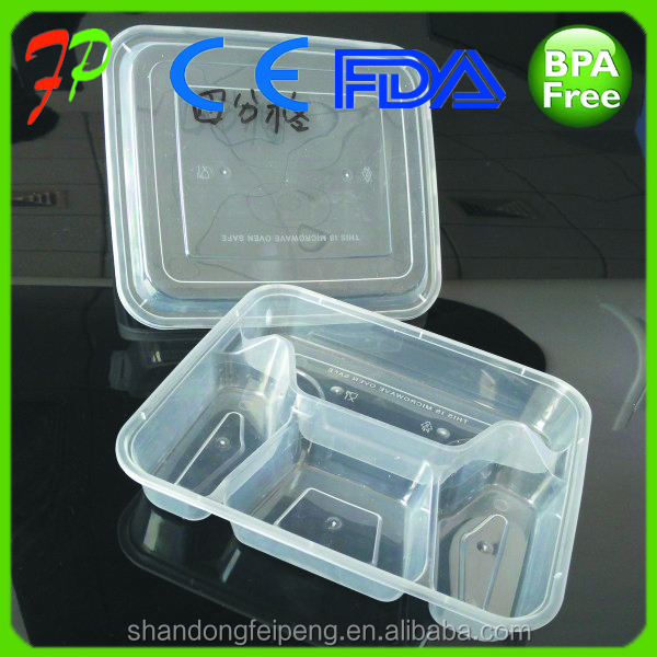 Plastic Material and Disposable Feature plastic food containers for restaurants