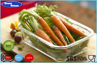High Quality Borosilicate Glass Rectangular Storage Food Container With PP Cover