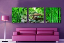 New Hot print Oil Paintings Bamboo Landscape Picture Canvas Painting On Wall Pictures For Living Room Decor Hang Paintings