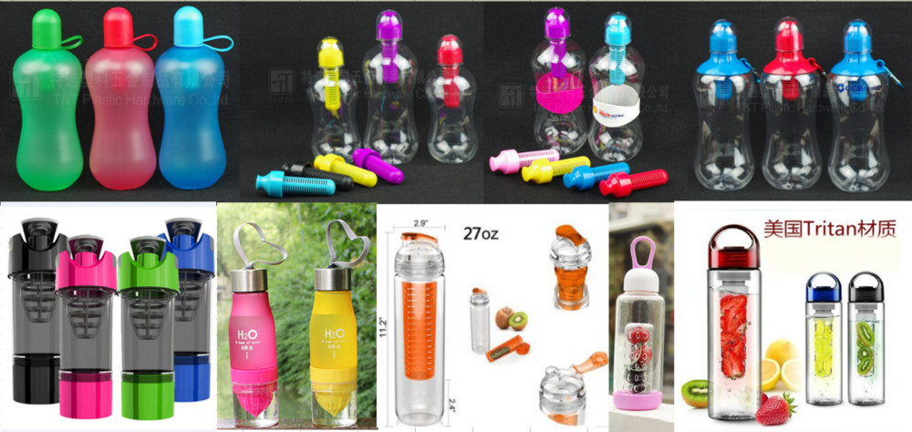 Wholesales GYM Fitness 500ML Plastic Dumbbell Water Bottle