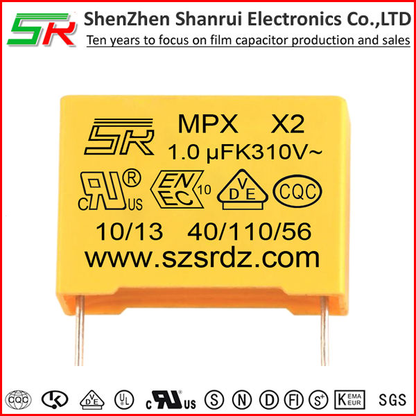 Safety Capacitor X2 275V 1uf 105K Pitch 27.5mm