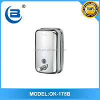 Kitchen wall mounted manual stainless steel liquid soap dispenser 800ml