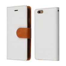 C&T High quality pu leather made card slot mobile phone flip wallet case for iphone 6 6s