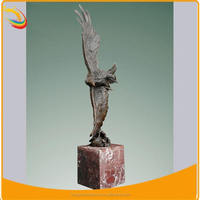 Garden Statues Outdoor Eagle Statues on Marble Base for Sale